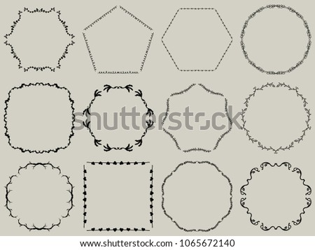 Assorted Heart Vector Frames - Download Free Vector Art, Stock ...