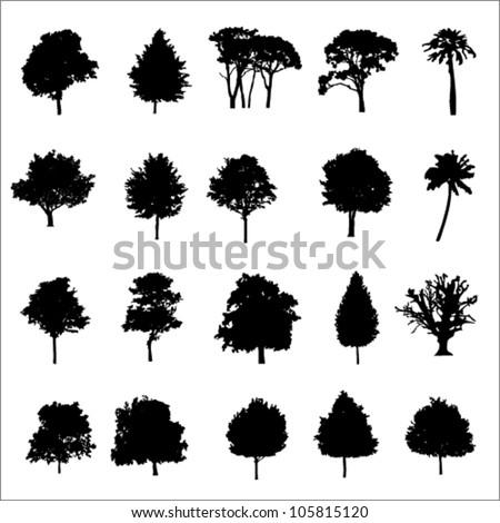 set of twenty black vector