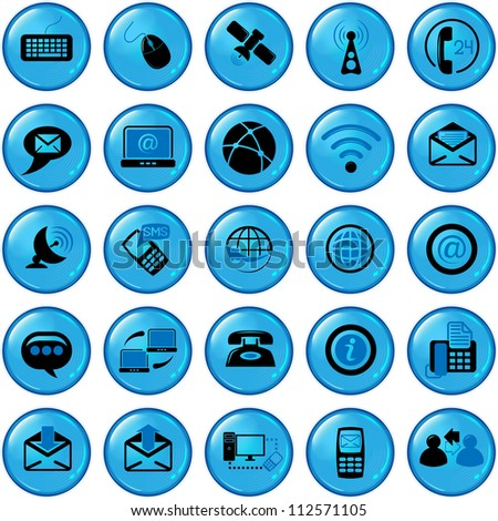 Set of twenty five communication icons