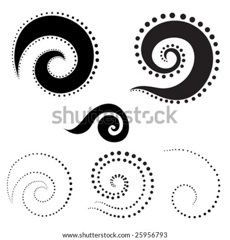 set of twirl design elements
