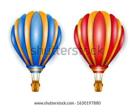 set of two air balloon vector