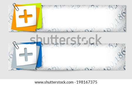 set of two banners with the