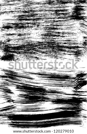 Set of two black grunge backgrounds on white