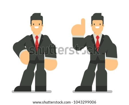 set of two business man in suit