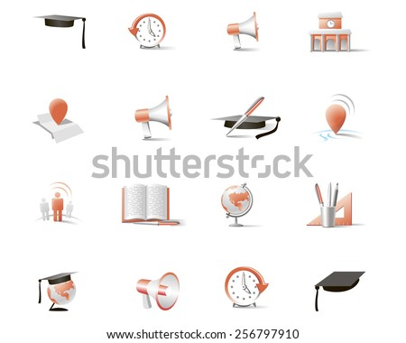 set of two color vector icons