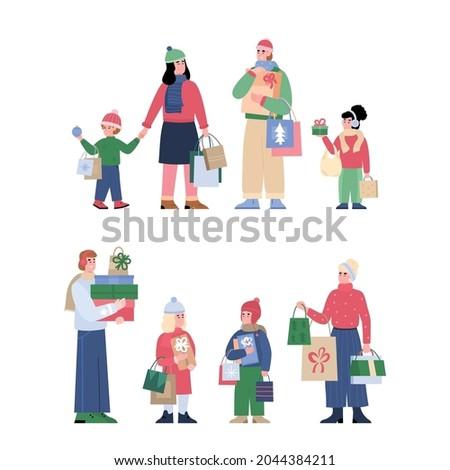 set of two groups of christmas