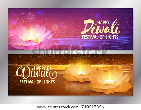 set of two happy diwali