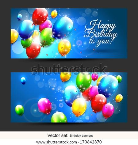 set of two horizontal birthday