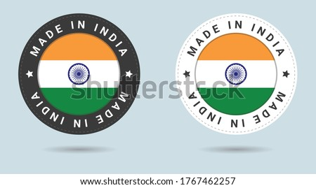 set of two indian stickers