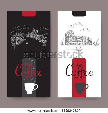 set of two italian coffee