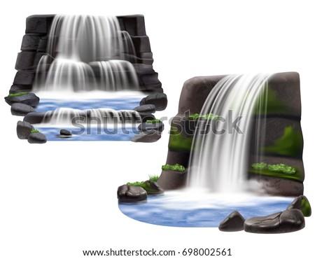 set of two natural landscape