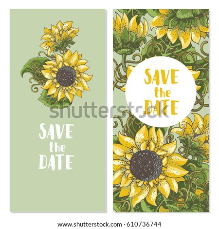 set of two save the date cards
