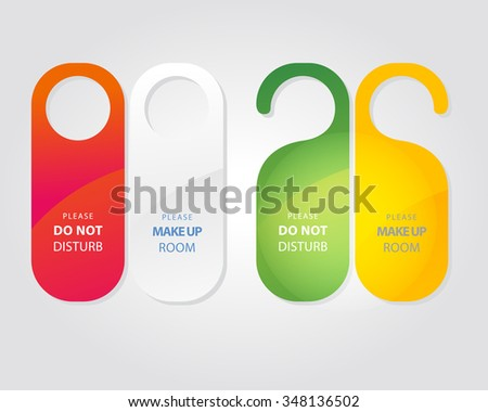 Free Do Not Disturb Door Hanger Vector Set - Download Free Vector ...
