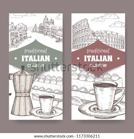 set of two traditional italian