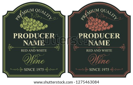 set of two vector labels for