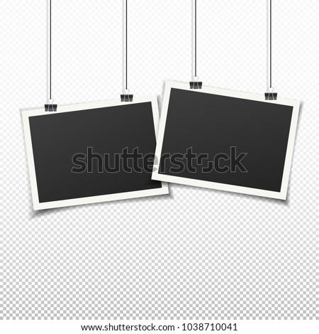 set of two vintage photo frames