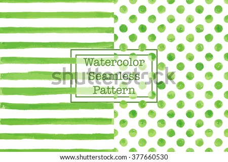 set of two watercolor seamless