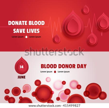 set of two world blood donor