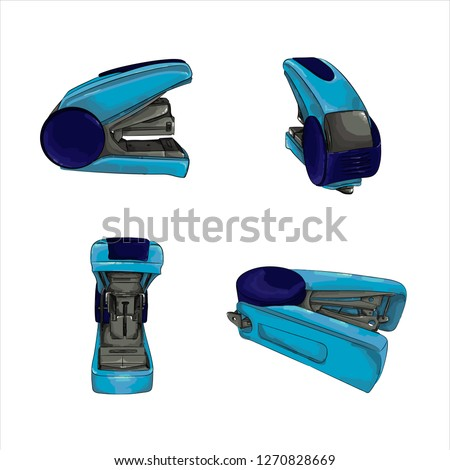 Set of types of office stapler