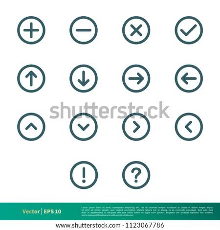 Set of UI icon Vector Logo Template