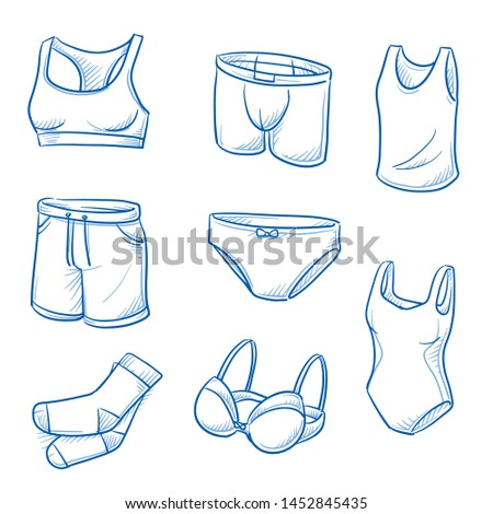set of underwear garments and