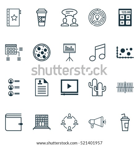 set of 20 universal editable