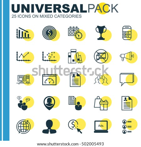 Set Of 25 Universal Editable Icons For Advertising, Hr And Education Topics. Includes Icons Such As Female Application, Library, SEO Brainstorm And More.