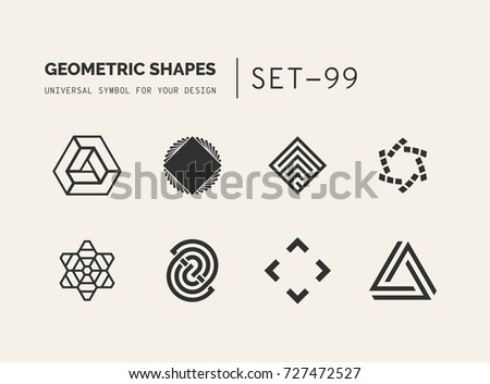 Set Of Universal Minimal Geometric Logo Simple Vector Sign Will Give A Recognizable Accent To