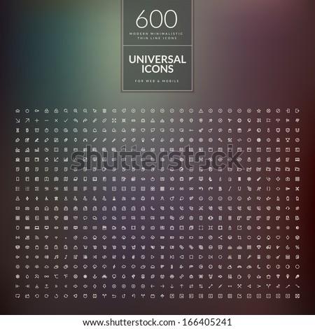 set of 600 universal modern