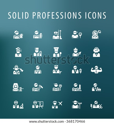 set of 25 universal professions