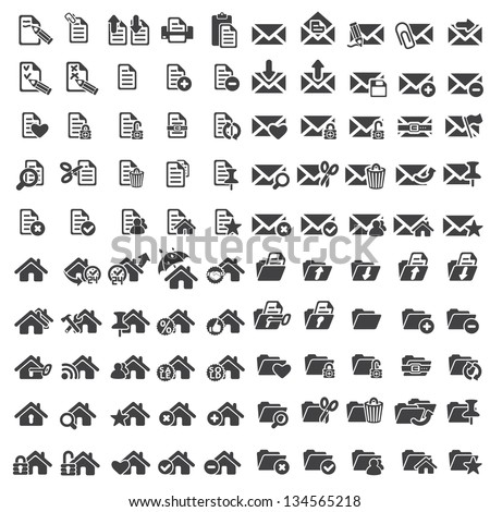 Set of universal web vector icons