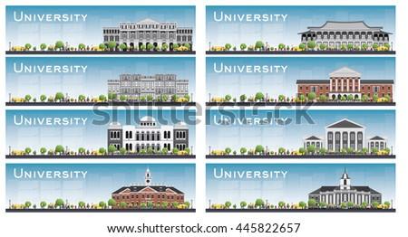 set of university study banners