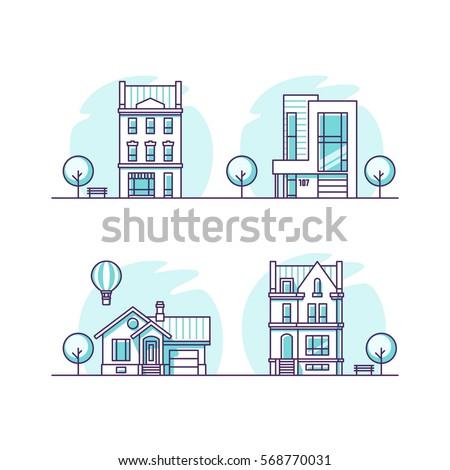 set of urban and suburban