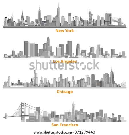 set of urban cities of new york