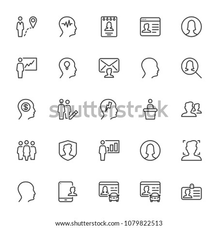 Set Of 25 User Editable Icons. Professional, pixel-perfect icons optimized for both large and small resolutions. Cloud computing, geometry, group, structure and more icons. EPS 10 format. #1079822513