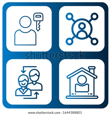 Set of user profile icons. Such as User , user profile icons