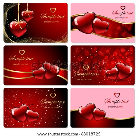 Set of Valentine's cards, illustration