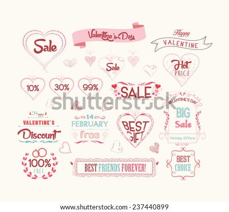 set of valentine sale for design - Valentine Sale
