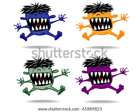 set of varicolored funny monsters.vector 11
