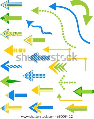 Set of various arrows for your design.