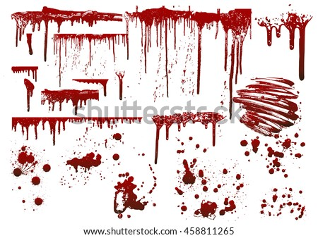 set of various blood or paint