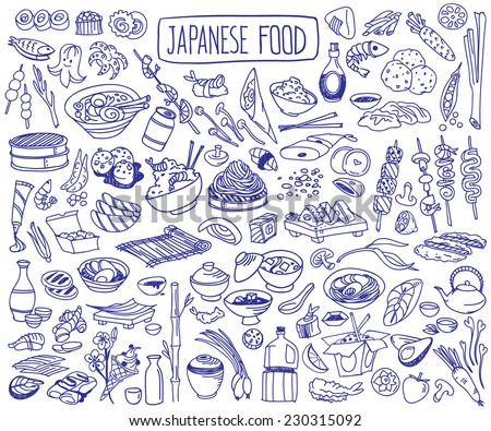 japanese food collection vectors download free vector art stock