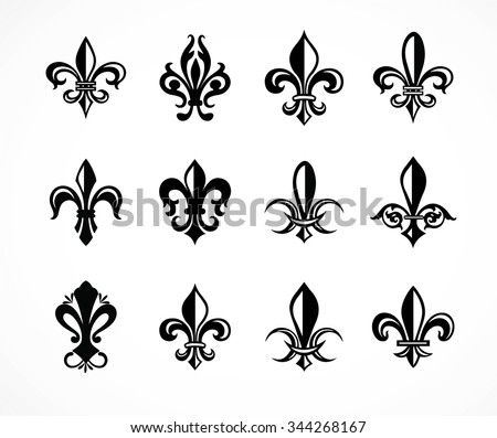 fleur de lis vector shapes download free vector art stock rh vecteezy com fleur de lys vector fleur de lis vector image