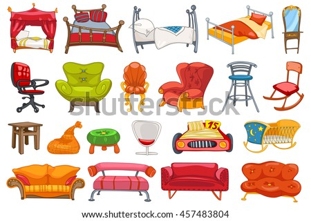 set of various furniture such
