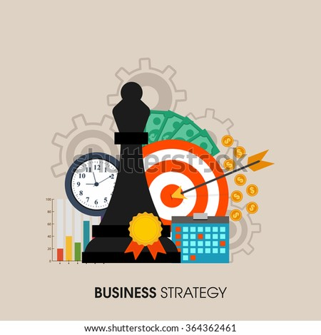Set of various infographic elements for Business Strategy concept.