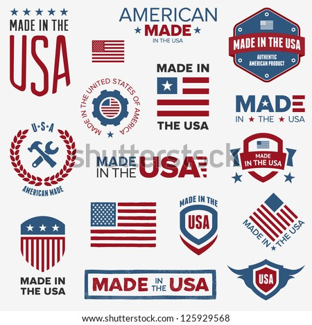 set of various made in the usa
