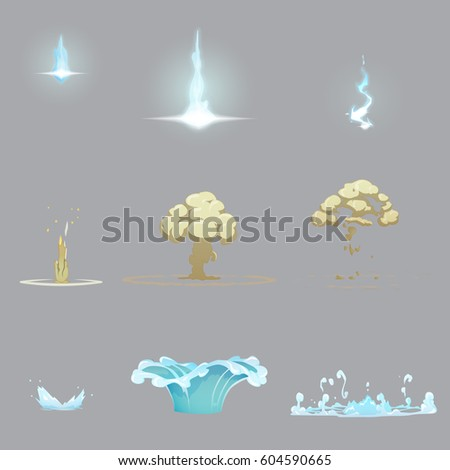set of various nature effects