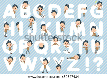 set of various poses of school