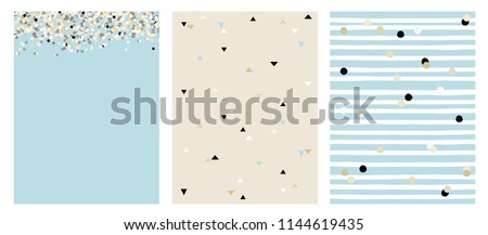 set of 3 varius abstract vector