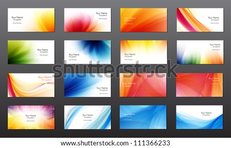 Free business cards vectors download free vector art stock set of 16 vector abstract bright business card banner design templates reheart Images